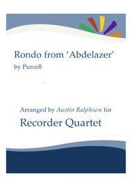 Rondo from The Abdelazer Suite - recorder quartet