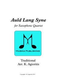 Auld Lang Syne - Saxophone Quartet