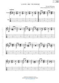 Love Me Tender (Sheet music for guitar)