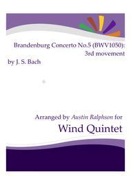 Brandenburg Concerto No.5, 3rd movement - wind quintet