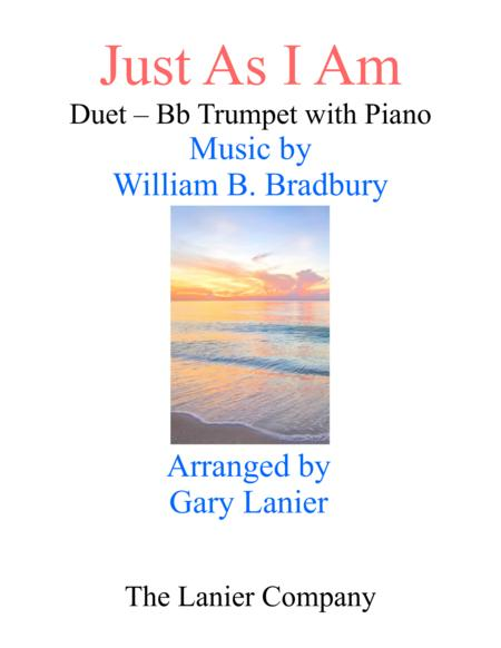 Gary Lanier: JUST AS I AM (Duet –  Bb Trumpet & Piano with Parts)