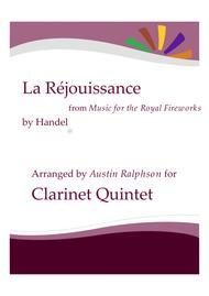 La Rejouissance (Fireworks) - clarinet quintet
