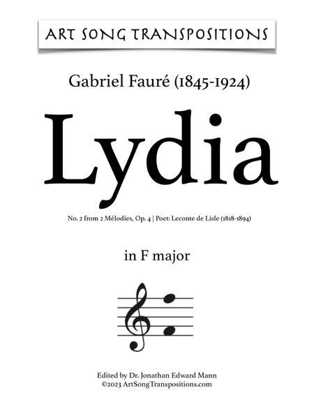 Lydia, Op. 4 no. 2 (F major)