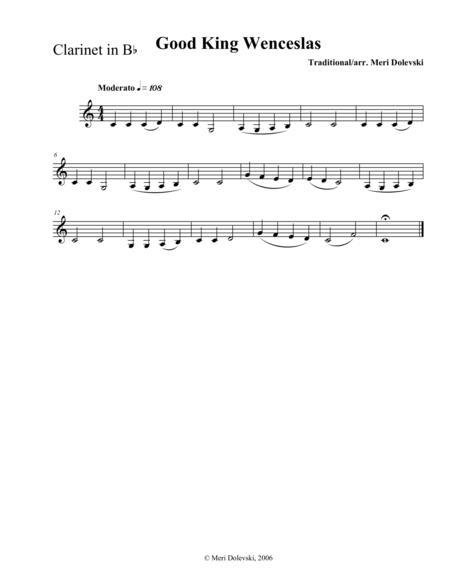 Good King Wenceslas: clarinet/piano