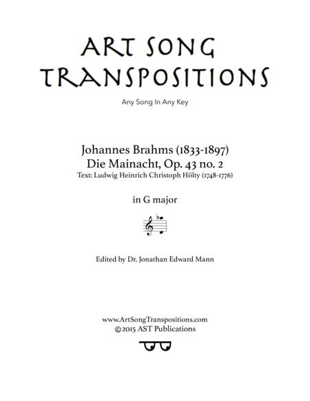 Die Mainacht, Op. 43 no. 2 (G major)