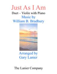 Gary Lanier: JUST AS I AM (Duet –  Violin & Piano with Parts)