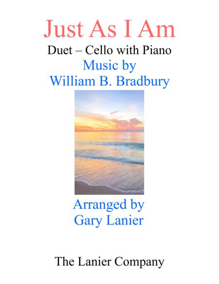 Gary Lanier: JUST AS I AM (Duet –  Cello & Piano with Parts)