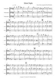 Silent Night for Cello Trio