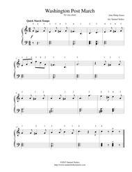 Washington Post March - for easy piano