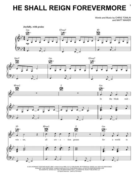 Download He Shall Reign Forevermore Sheet Music By Chris Tomlin ...