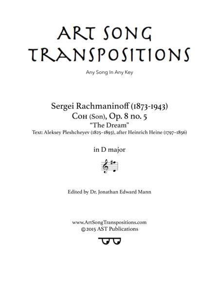 The Dream, Op. 8 no. 5 (D major)