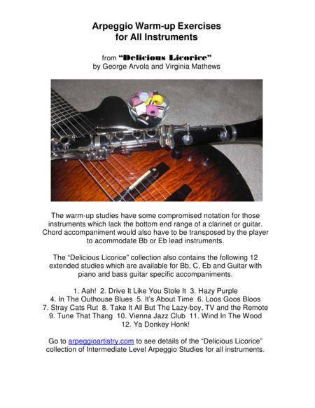 Arpeggio Warm-up Exercises for All Instruments.