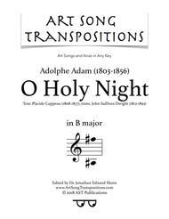 O Holy Night (B major)