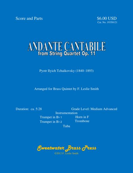 Andante Cantabile from String Quartet Op. 11