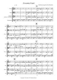 Coventry Carol for String Trio