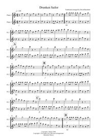 Drunken Sailor for Flute Duet