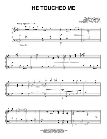 Download He Touched Me Sheet Music By Bill Gaither Sheet Music Plus