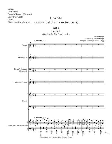 EAVAN (a musical drama in two acts) - vocal score