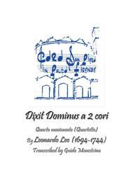 Leonardo Leo - Dixit Dominus a 2 cori, 1741, Quarto movimento (Quartetto)