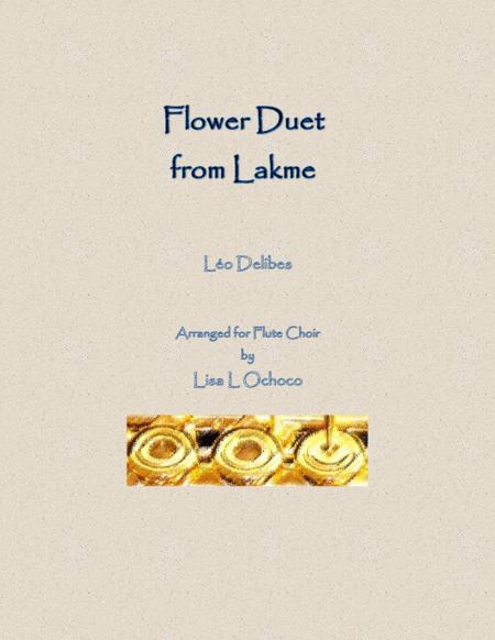 Flower Duet from Lakme for Flute Choir
