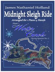 Midnight Sleigh Ride for 1 Piano 4 Hands