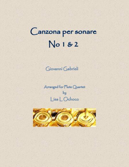Canzona per sonare No.1 & 2 for Flute Quartet (2C, A, B)