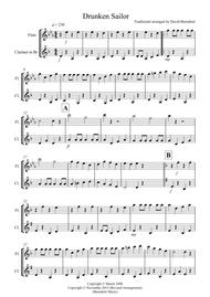 Drunken Sailor for Flute and Clarinet Duet