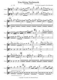 Eine Kleine Nachtmusik (1st movement) for Viola Duet