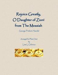 Rejoice Greatly, O Daughter of Zion from The Messiah for Flute Choir
