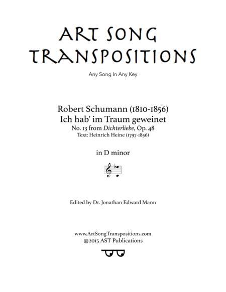 new high wide varieties lower price with Preview Ich Hab' Im Traum Geweinet, Op. 48 No. 13 (D Minor ...