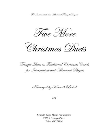 Five More Christmas Duets for Trumpets