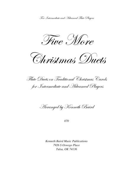 Five More Christmas Duets for Flutes
