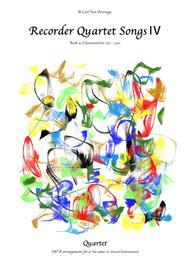 (BH004R*E*C) Recorder Quartet Songs, Book 4 (>70 pages)