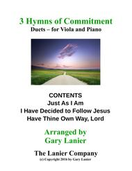 Gary Lanier: 3 HYMNS of COMMITMENT (Duets for Viola & Piano)