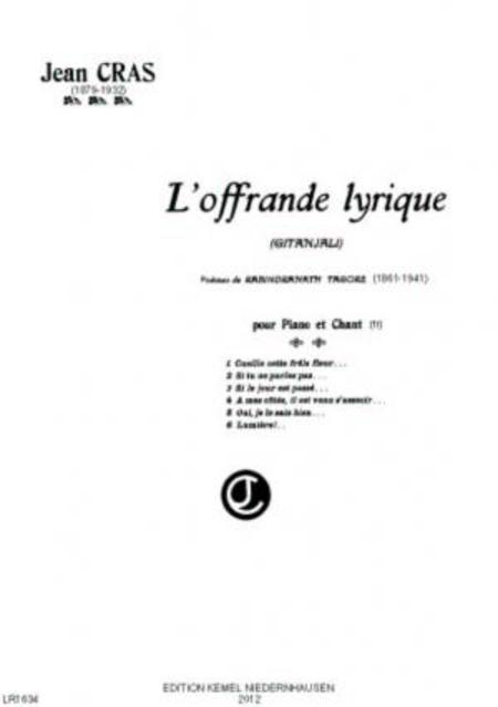 L'offrande lyrique : pour piano et chant
