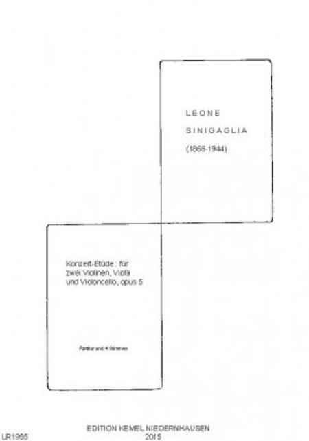 Konzert-Etude : fur zwei Violinen, Viola und Violoncello, opus 5