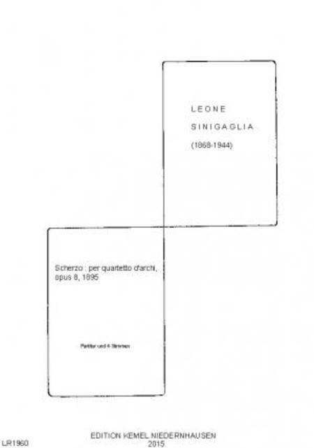 Scherzo : per quartetto d'archi, opus 8, 1895