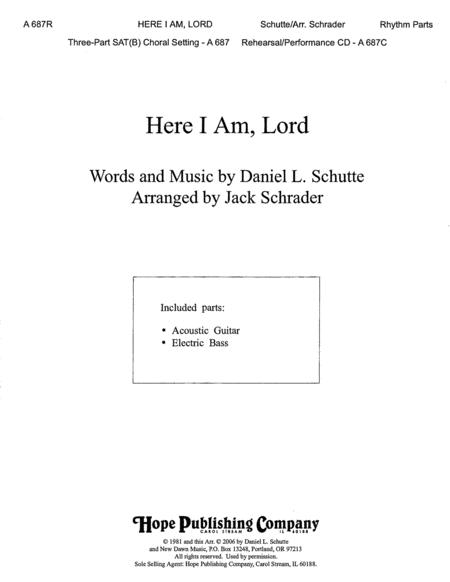 Download Here I Am, Lord Sheet Music By Daniel Schutte