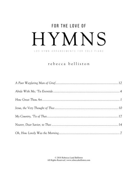 For the Love of Hymns (6 LDS Hymn Arrangements for Solo Piano)