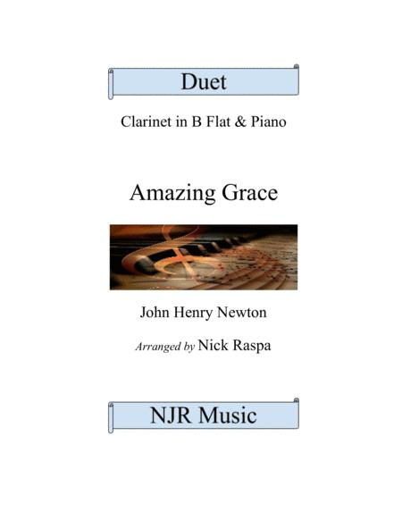 Amazing Grace (Duet for piano and clarinet in B Flat) - Full Set
