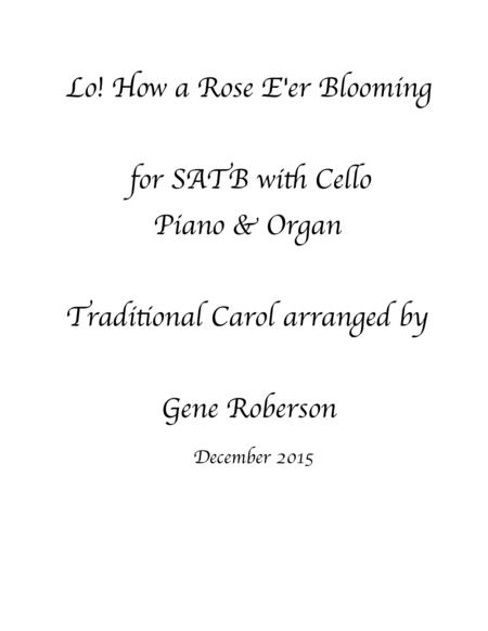 Low! How a Rose E're Blooming  SATB with Cello