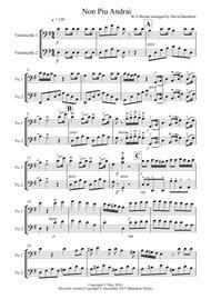Non Più Andrai for Cello Duet