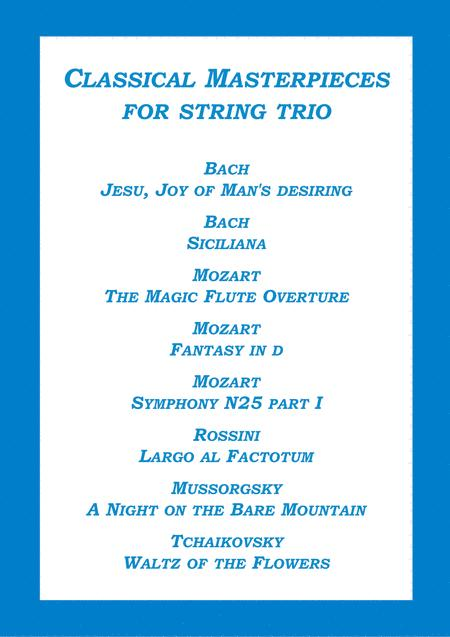 Classical Masterpieces for string trio