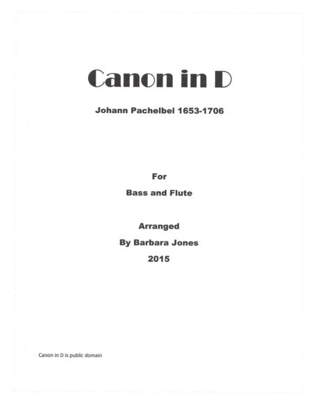 Cannon in D (Flute and Bass)