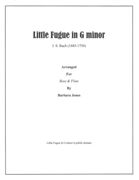 Little Fugue in G minor (Flute and Bass)