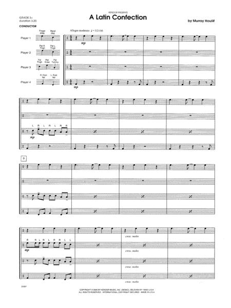 A Latin Confection - Full Score