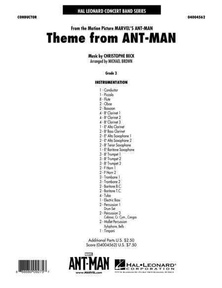 Theme from Ant-Man - Conductor Score (Full Score)