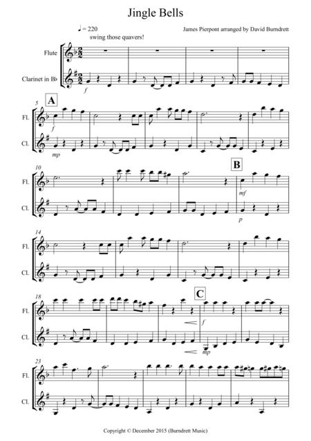 Jingle Bells (Jazzy Style!) for Flute and Clarinet Duet