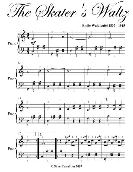 Skater's Waltz Easy Elementary Piano Sheet Music