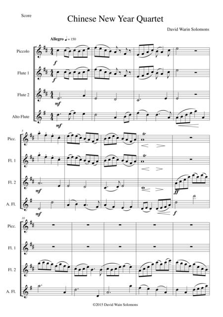 Chinese New Year Celebration for flute quartet